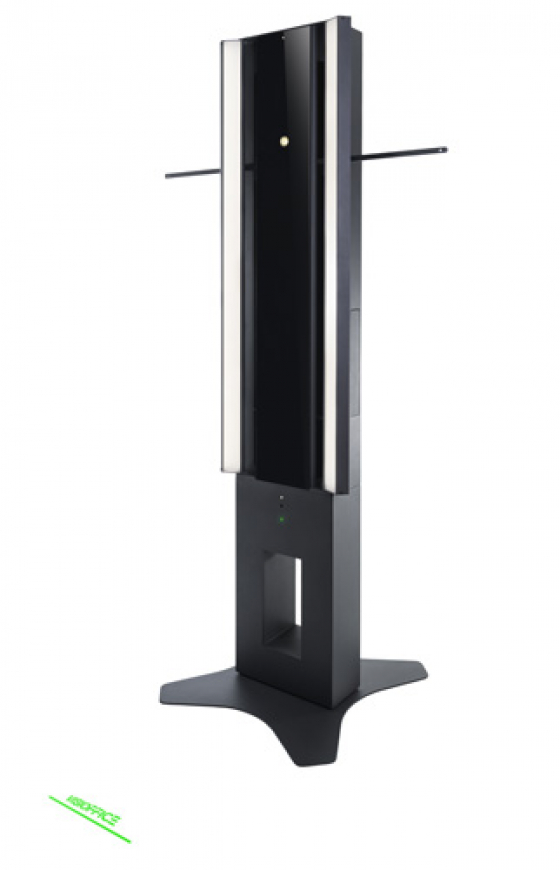 Visioffice X tower used to measure dominant eye, eye rotation and frame fit measurements
