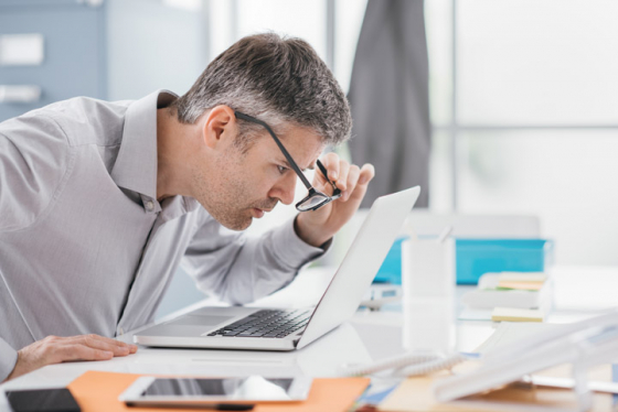 Struggling to see computer screen due to bifocals