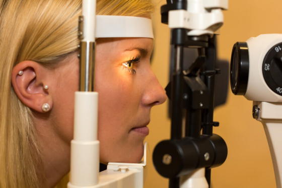 woman having an eye examination