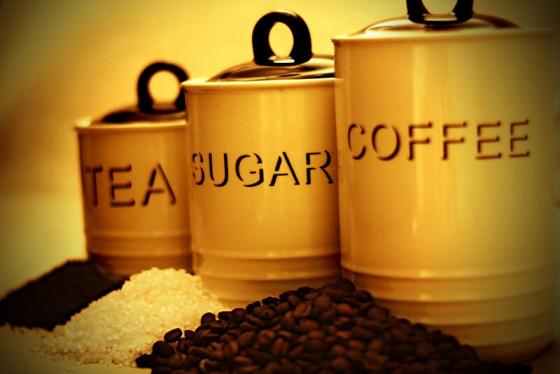 tea sugar and coffee jars
