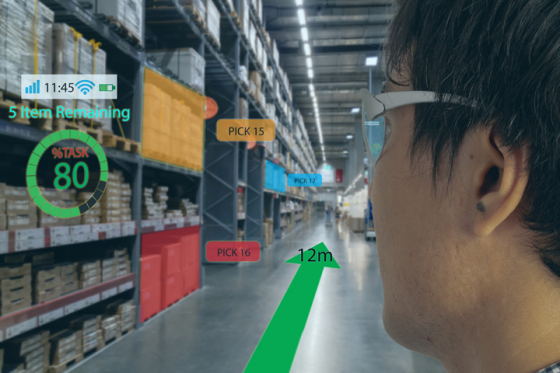 Concept of smart glasses in a work environment